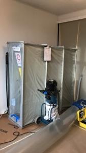 Kuvassa Suomen Asbestitekniikan patentoitu 3-osainen sulkutunneli